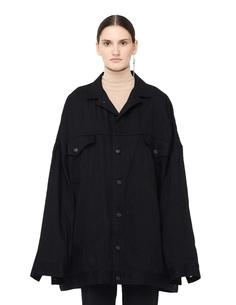 Оверсайз куртка из денима со шнуровкой Yohji Yamamoto