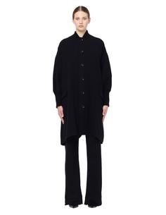 Шерстяное пальто с широким рукавом Yohji Yamamoto