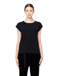 Черная хлопковая футболка Ann Demeulemeester