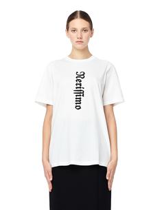 Хлопковая футболка с готическим принтом Yang LI