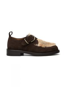 Замшевые ботинки с кроличьим мехом Hender Scheme
