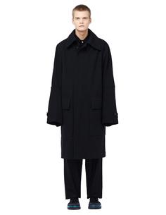 Пальто из шерсти и хлопка Ann Demeulemeester