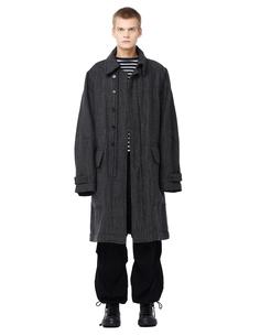 Шерстяное пальто с люрексом Ann Demeulemeester