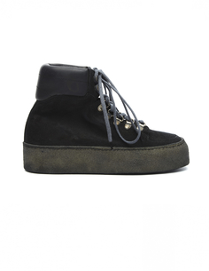 Замшевые ботинки на платформе Guidi
