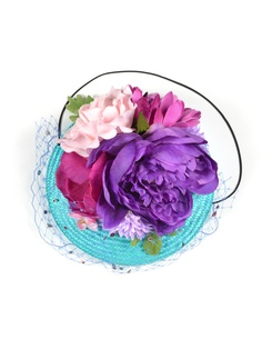 Соломенная шляпка с цветами Piers Atkinson