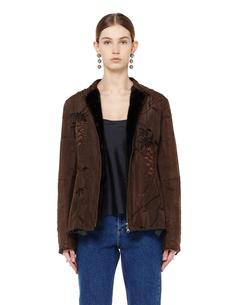 Шелковая куртка с подкладкой из меха норки BY Walid