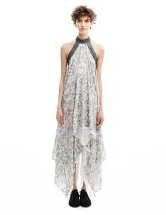 Платье из хлопка и шелка Gareth Pugh