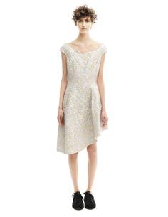Платье из полиэстера и шелка Simone Rocha