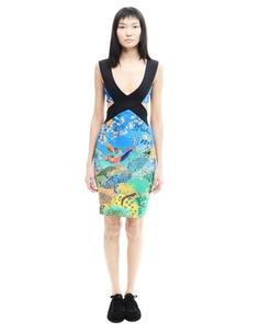 Платье из полиэстера Mary Katrantzou