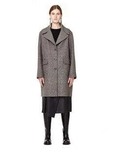 Пальто из шерсти и шелка The Row