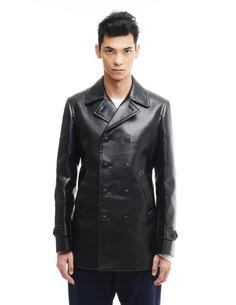 Короткое пальто из искусственной кожи Comme des Garcons Homme Plus