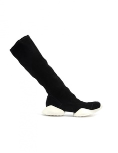 Замшевые сапоги Adidas by Rick Owens