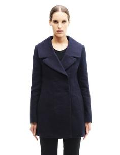 Пальто из шерсти и льна Marni