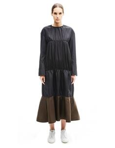 Платье из шелка и ацетата Marni