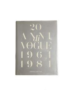 Книга 20 ANNI DI VOGUE 1964 - 1984 Books