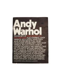 "Книга ""Andy Warhol: Transcript of David Baileys ATV Documentary"" Books"