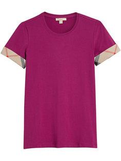 футболка с клетчатой окантовкой Burberry