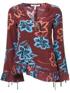 блузка с длинными рукавами и V-образным вырезом  Derek Lam 10 Crosby