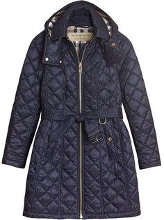 стеганое пальто на молнии Burberry