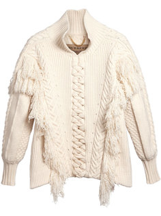 свободный свитер с узором косы Burberry