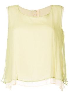 многослойная блузка без рукавов Yohji Yamamoto Vintage