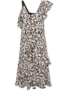 платье на одно плечо с оборкой  Proenza Schouler
