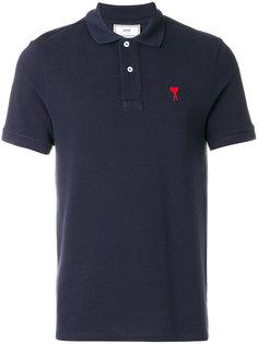 рубашка-поло с вышитым логотипом-сердцем Ami Alexandre Mattiussi