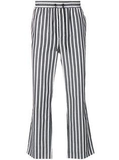 расклешенные полосатые брюки Ami Alexandre Mattiussi