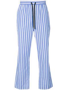 полосатые расклешенные брюки Ami Alexandre Mattiussi