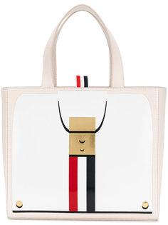 сумка-тоут с принтом Thom Browne