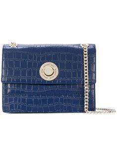 сумка через плечо с эффектом крокодиловой кожи Versace Jeans