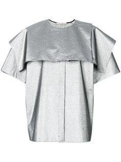 рубашка с металлическим отблеском Christopher Kane