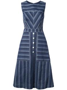 полосатое джинсовое платье Carolina Herrera