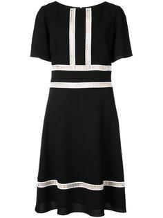 приталенное платье с ажурными вставками Carolina Herrera