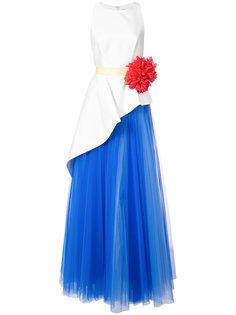 вечернее платье асимметричного кроя Mikado Carolina Herrera