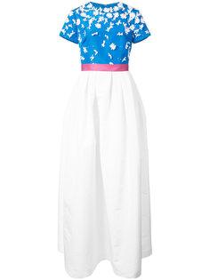 бальное платье с декором из цветов на лифе Carolina Herrera