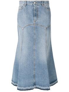 джинсовая юбка миди Alexander McQueen