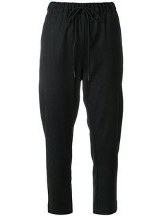 укороченные брюки со шнурком  Semicouture