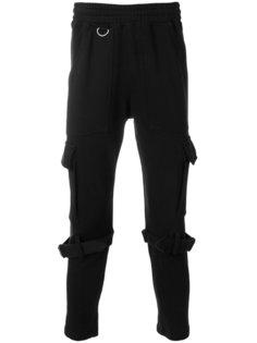 брюки-джоггеры с молниями сзади KTZ