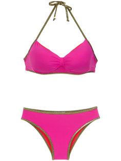 gold-tone trimming bikini set Amir Slama