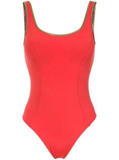 gold-tone trimming swimsuit Amir Slama