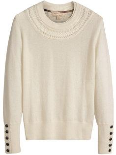 свитер с пуговицами на рукавах Burberry