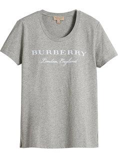 футболка с логотипом  Burberry