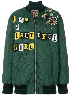 декорированная куртка-бомбер Dolce & Gabbana