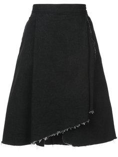 юбка с асимметричным необработанным подолом Harvey Faircloth