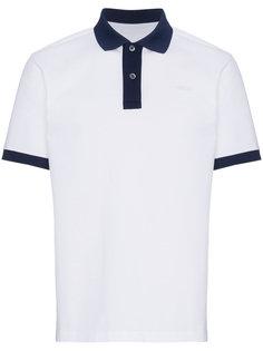 двухцветная футболка-поло с короткими рукавами Prada
