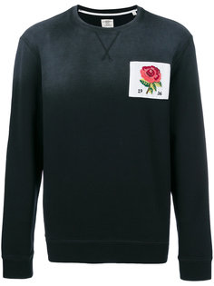 свитер с принтом розы Kent & Curwen