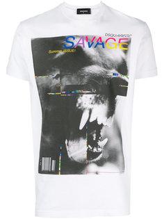 футболка с графичным принтом Dsquared2