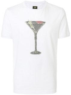 футболка с отделкой  Fendi