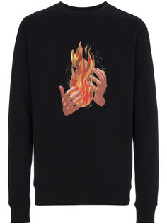 fire print long sleeve sweatshirt Off-White